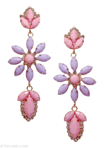 Glam Garden Drop Earrings