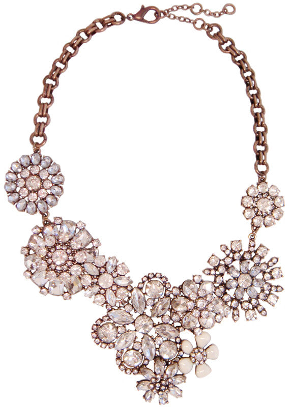 Glistening Starburst Cluster Collar Necklace