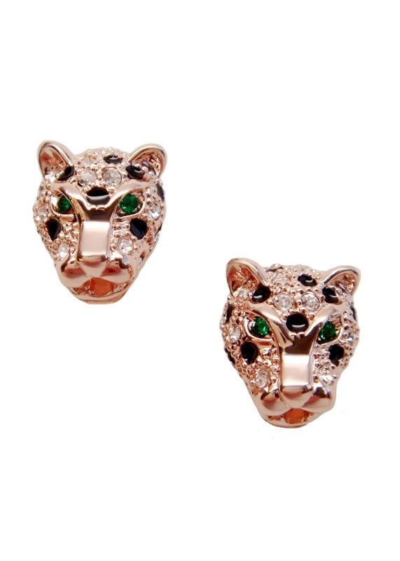 Emerald Jaguar Earrings