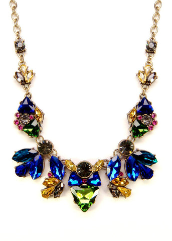 Jeweled Flurry Collar Necklace