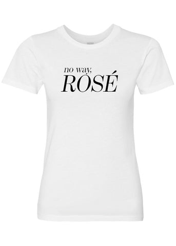 No Way, Rosé Luxury Soft Crew Neck Tee by ClothSugar™