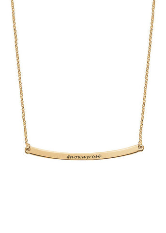 No Way Rosé Gold Vermeil Curved Plate Necklace
