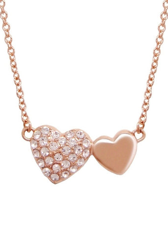 Pave Hearts Pendant Necklace - PrincessSugar™ Collection