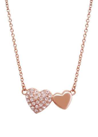 Pave Hearts Pendant Necklace by PrincessSugar™