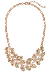 Peridot Wreath Collar Necklace Bib Statement Necklace