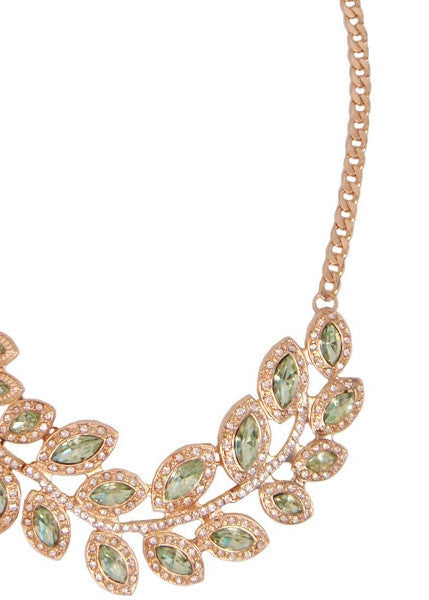 Peridot Wreath Collar Necklace
