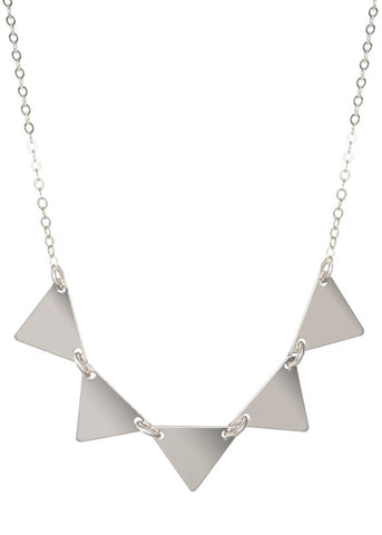 Triangle Pendant Necklace - Sterling Silver