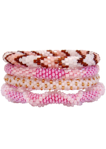 SugarStack™ Bracelet Set - Pink Chevron Collection