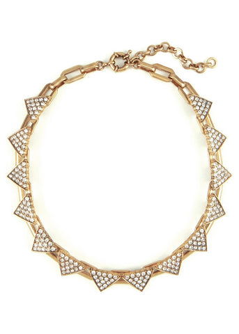 Triangle Ice Links Collar Necklace