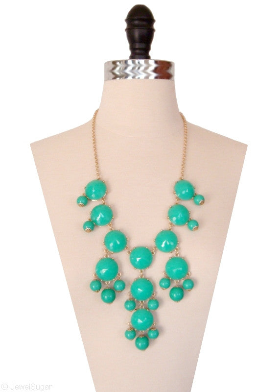 Turquoise Bauble Bib Necklace