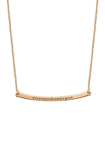 Yes Way Champagne Necklace in Rosé Gold
