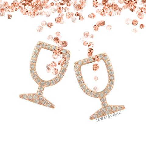 Yes Way Rosé Pavé Stud Earrings - Rosé Gold™