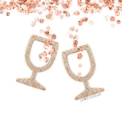Yes Way Rosé Pavé Stud Earrings - Gold