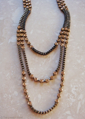 Avant Garde Crystal Chain Necklace