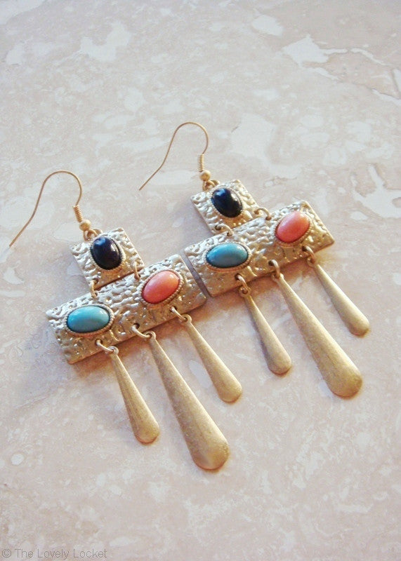 Cleopatra Princess Cabochon Earrings