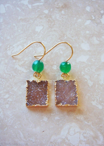 FrostSugar™ Sparkling Martini Druzy Earrings