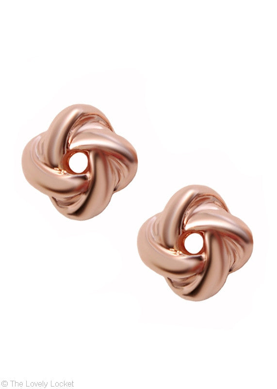 Forget Me Knot Earrings - 18k Rose Gold