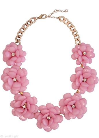 In Full Bloom Necklace in Rose Blush
