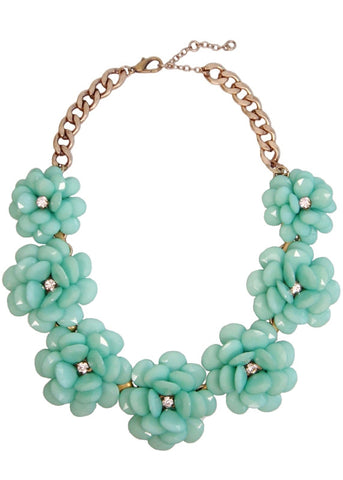 In Full Bloom Necklace in Mint