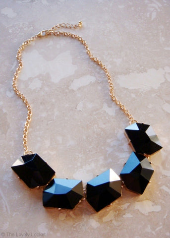 Night Onyx The Town Necklace