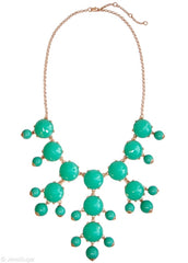 Turquoise Bauble Bib Statement Necklace