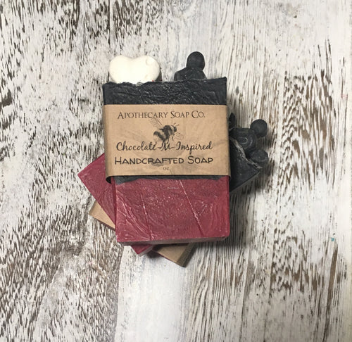 Chocolate Inspired Vegan Handcrafted Soap is especially good for sensitive skin! It has a lather that is rich, creamy & is 100% natural. It has that chocolaty goodness scent because of the Organic Cocoa Butter it contains!