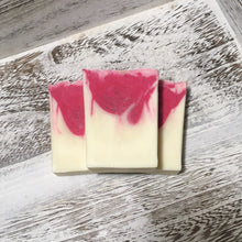 Load image into Gallery viewer, Refresh Grapefruit-Jasmine Handcrafted Soap: is refreshingly scented with essential oils of grapefruit and jasmine & oh so pretty to look at!. It's 99% natural, palm-oil free, and is great for your skin.- The Saroya Collection