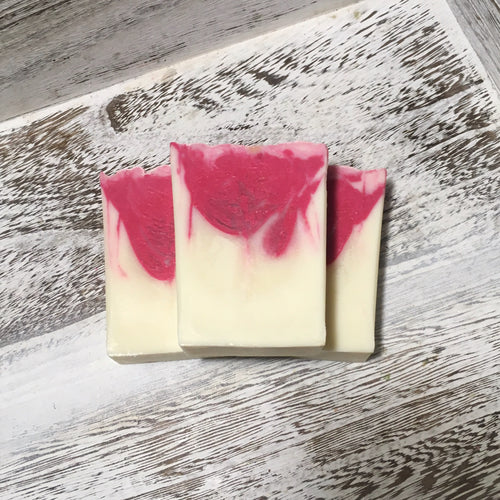 Refresh Grapefruit-Jasmine Handcrafted Soap: is refreshingly scented with essential oils of grapefruit and jasmine & oh so pretty to look at!. It's 99% natural, palm-oil free, and is great for your skin.- The Saroya Collection