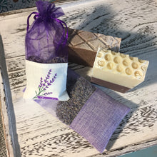 Load image into Gallery viewer, Lavender  Handcrafted Soap, Lavender Honey Handcrafted Soap, Lavender Sachet, Lavender Bath Salts