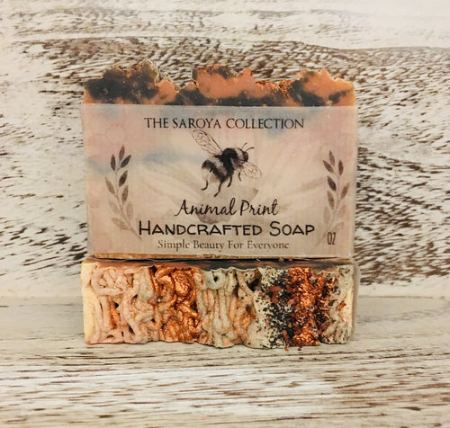 Animal Print Exotic Handcrafted Soap is so much fun to look at and smells exotic and is a great soap. We use the same great for your skin oil base in this soap.