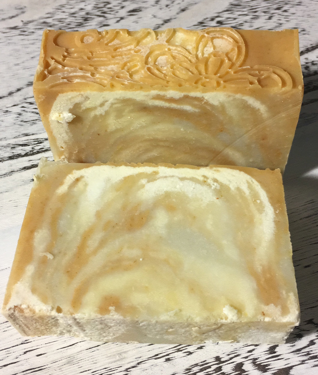 Citrus Sunshine Vegan Handcrafted Soap; all natural, vegan soap has the most delicious scent because of the blend of Essential Oils Lime, Lemon, Tangerine and Grapefruit. It's called Citrus Sunshine because of the feeling it evokes on a bright sunny day, it is sweet & refreshing.