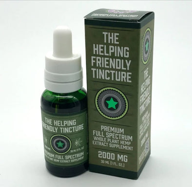 Full Spectrum CBD Tinctures by The Helping Friendly Hemp Company