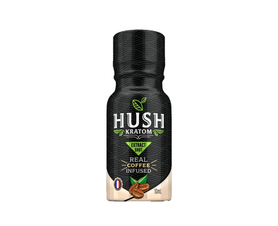 Ultra Liquid Concentrate Kratom Shot Infused with Coffee by Hush Botanicals