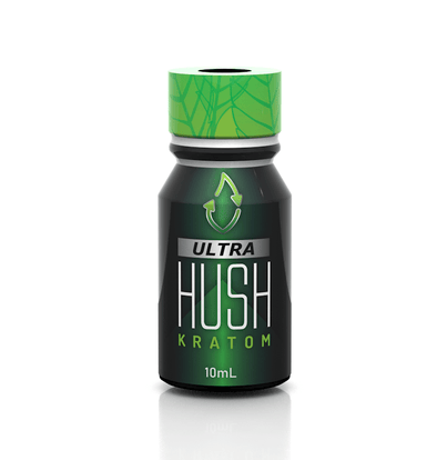 Ultra Kratom Liquid Extract Shot with Lime by Hush Botanicals