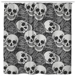 Grey Rose & Skull Shower Curtains 70x73 | Black & Grey - Shower Curtains | 3