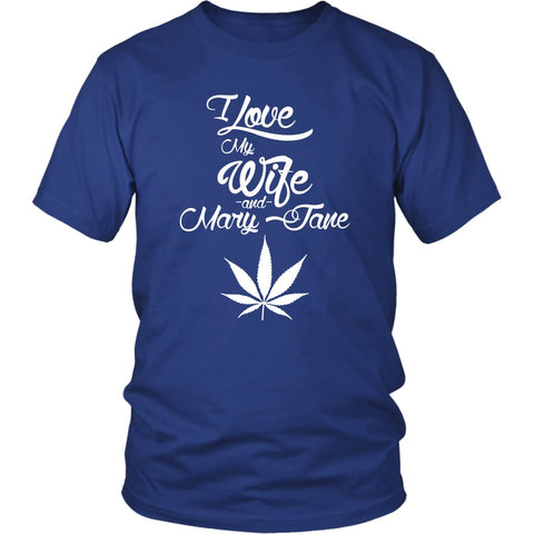 I Love My Wife & Mary Jane - Unisex Tshirt | Royal Blue / S - T-shirt | 1