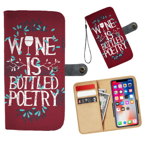 Image of Wine Is Bottled Poetry Wallet Phone Case | iPhone 11 - Wallet Case | 1