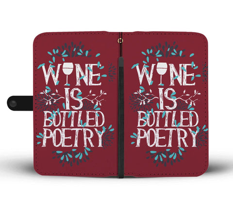 Wine Is Bottled Poetry Wallet Phone Case | Wallet Case | 3