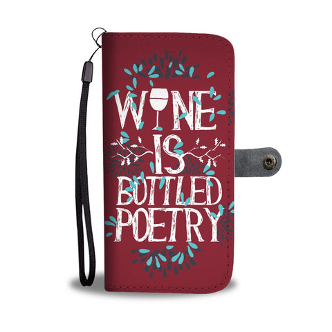 Wine Is Bottled Poetry Wallet Phone Case | Wallet Case | 2