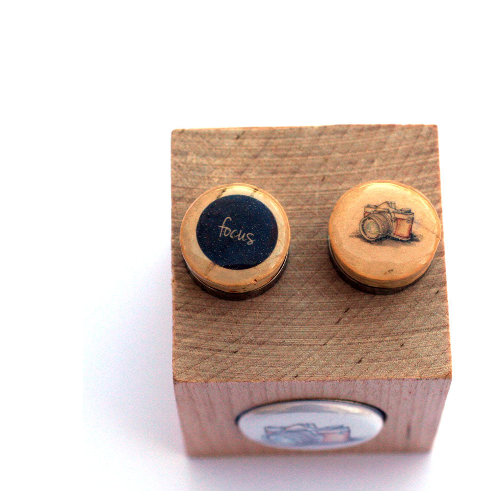 Photographer Cufflinks - Recycled Cork