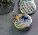Geek Locket Necklace - Computer Locket for Guy