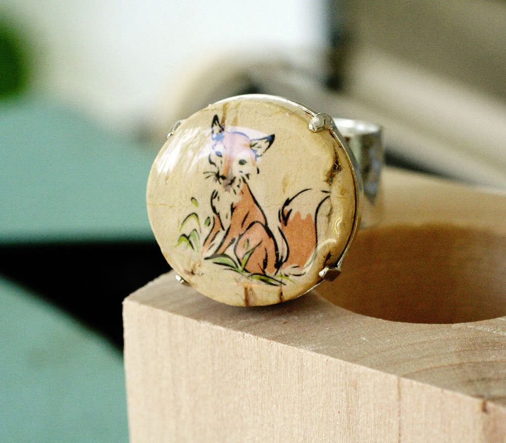 Fox Ring - Wine Cork Jewelry