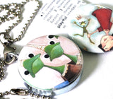 The Princess and the Frog Locket Necklace - Magnetic Jewelry