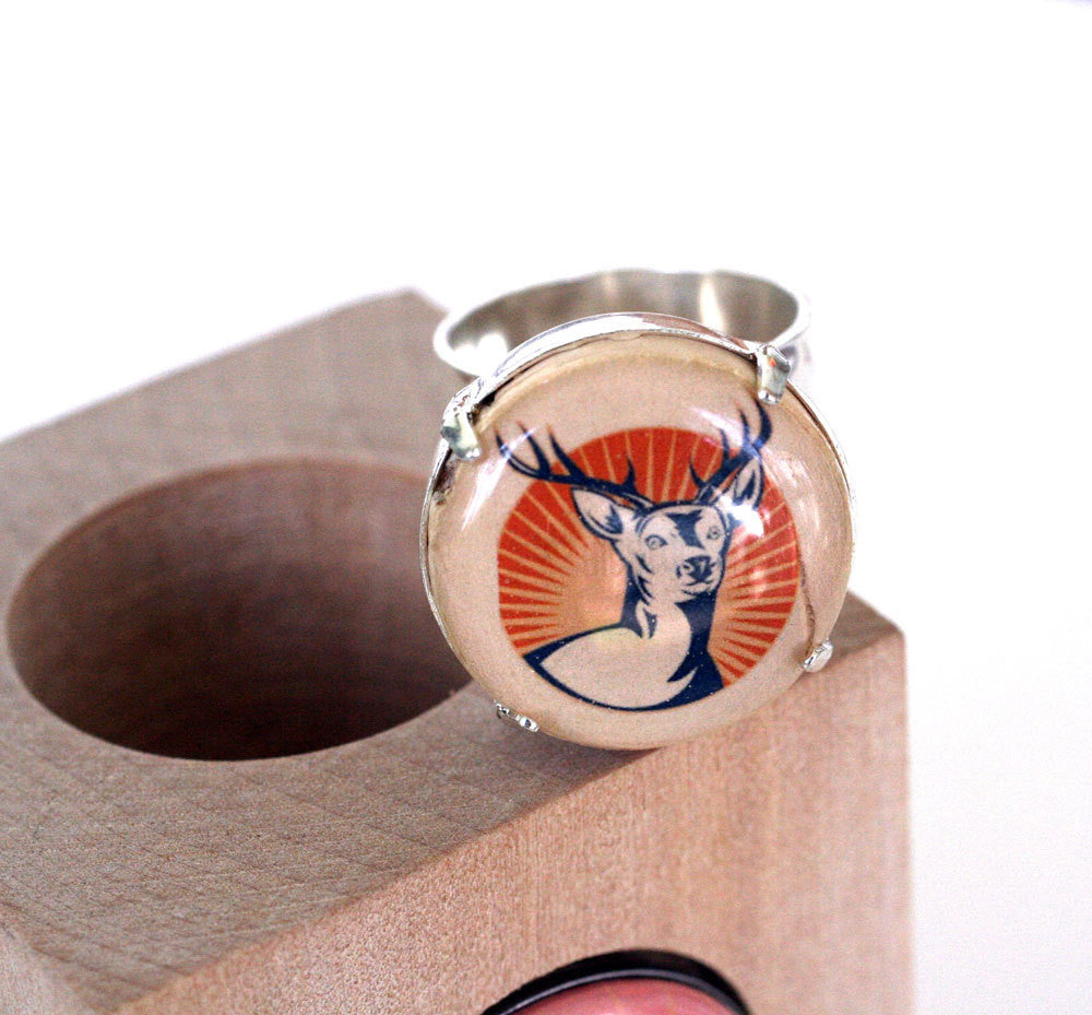 Deer Stag Cork Ring