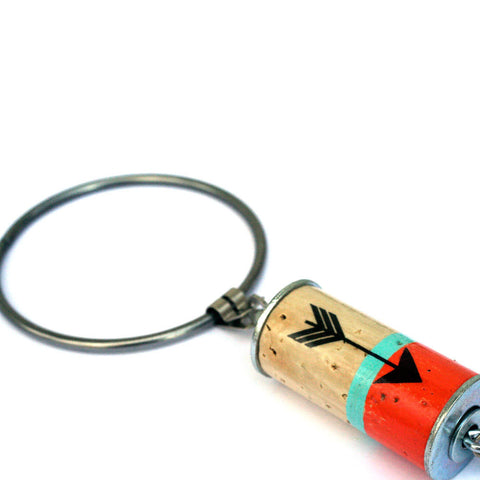 ARROW Color Block Recycled Wine Cork Keychain