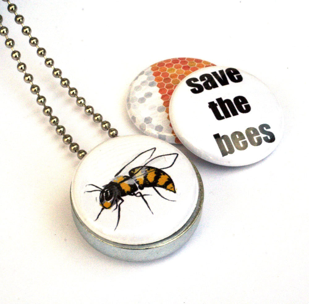 Save the Bees Locket Necklace