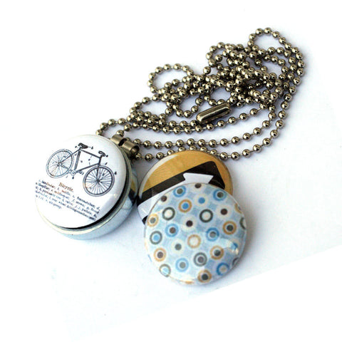Bike Locket Necklace