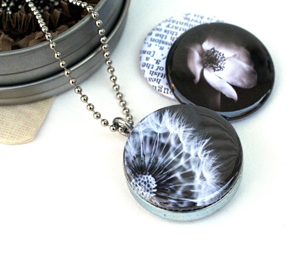 Dandelion Locket Necklace