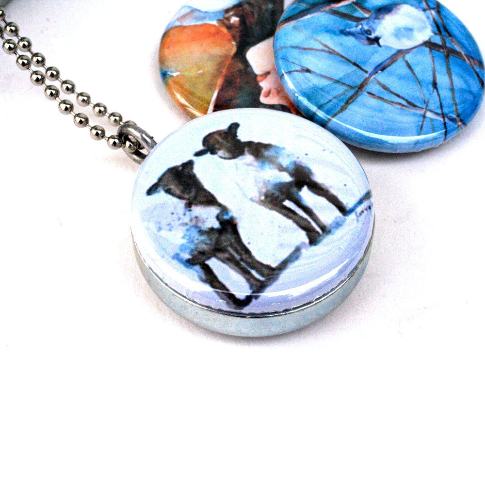 Rural Americana Locket Necklace