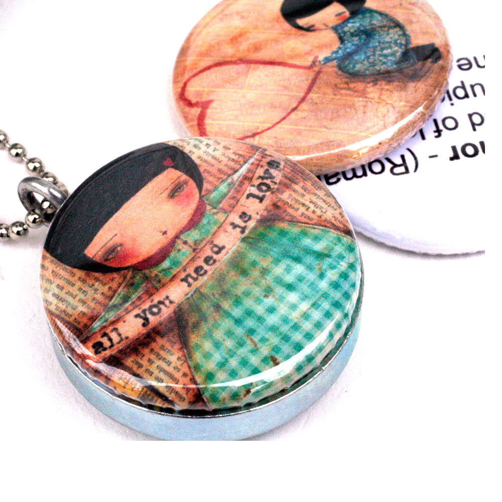 Amor Picture Locket Necklace